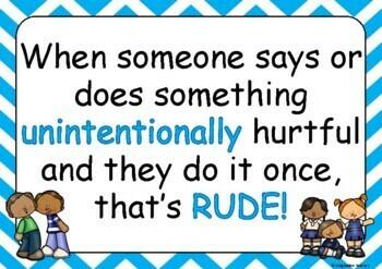 FREE Rude vs Mean vs Bullying
