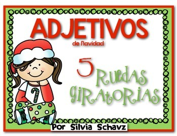FREE Ruedas giratorias de adjetivos de Navidad ¡En español! GRATIS