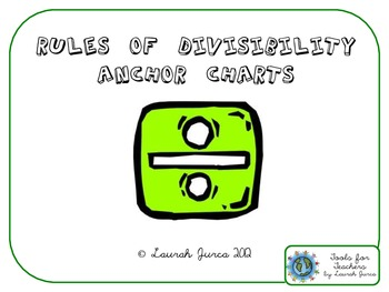 Rules of Divisibility Anchor Charts