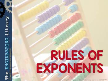 FREE! Rules of Exponents Poster
