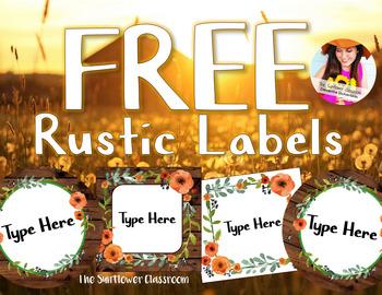 FREE Rustic Labels