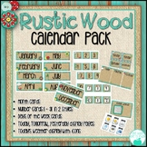 Rustic Wood Calendar Pack - Distressed Wood, Burlap, Mason Jars
