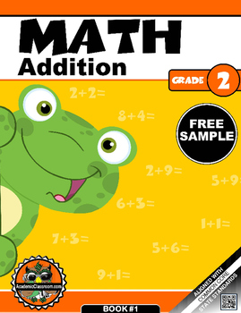 FREE SAMPLE: 2-GRADE MATH ADDITION MORNING WARM-UP REVIEW NUMBERS 1-9