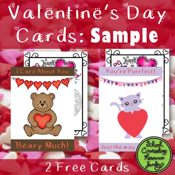 FREE SAMPLE: 2 Valentine's Day Cards