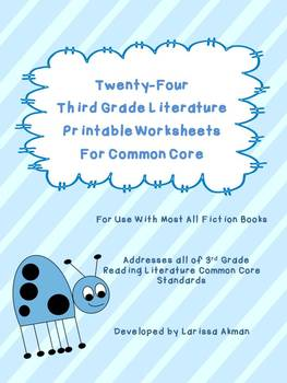 Free Sample!  Third Grade Literature Worksheets for Common Core