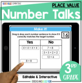 FREE SAMPLE: Digital Number Talks: 3rd Grade Place Value