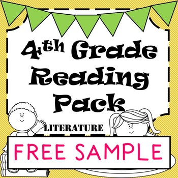 FREE SAMPLE - 4th Grade Reading Literature Pack