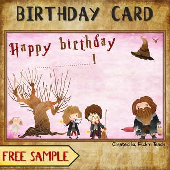 FREE BIRTHDAY CARD For Harry Potter Fans