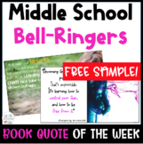 FREE SAMPLE - Book Quote of the Week: A Full Year of BELL RINGERS! Middle & HS