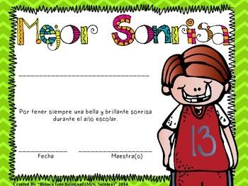 FREE SAMPLE Certificados Salvajes para final del año escolar