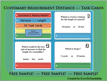 FREE SAMPLE Customary Measurement Units Length Distance Se