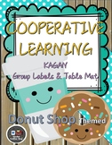 FREE SAMPLE DONUT SHOP THEME COOPERATIVE LEARNING GROUP LABELS AND TABLE MAT
