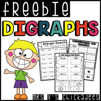 FREEBIE!! Digraph Mini Unit {sh,ch,th,wh}
