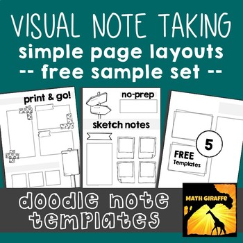 free doodle note templates basic page layouts by math giraffe tpt
