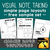 FREE Doodle Note Templates - Basic Page Layouts