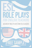 FREE SAMPLE  ESL role plays for English teachers