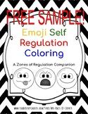 FREE SAMPLE! Emoji Self Regulation Coloring Sheet - Zones of Regulation Companio