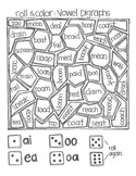 *FREE SAMPLE* Even More Roll & Color Games:  Digraphs and Dipthongs