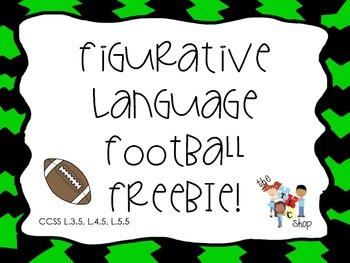 FREE SAMPLE! Football Figurative Language
