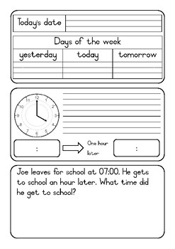 FREE SAMPLE Grade 2 daily warm up pages