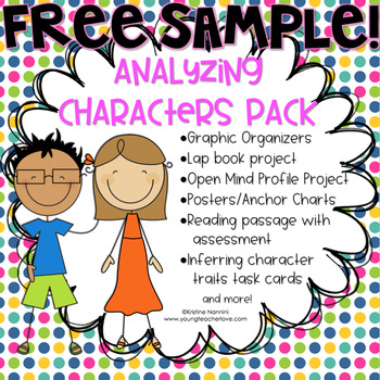 {FREE SAMPLE} Inferring Character Traits Organizer (Analyzing Characters Pack)