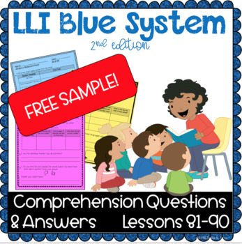 FREE SAMPLE- LLI Blue System - Comprehension Questions & Answers - Lesson 83 (K)