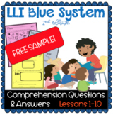 FREE SAMPLE- LLI Blue System - Comprehension Questions & A