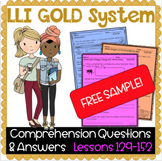 LLI GOLD System Comprehension Questions and Answers - Less