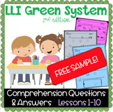 FREE SAMPLE- LLI Green System- Comprehension Questions & A