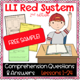 LLI Red Kit Comprehension Lesson 1 (L) FREE