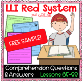 LLI Red Kit Comprehension Lesson 65 (M) FREE