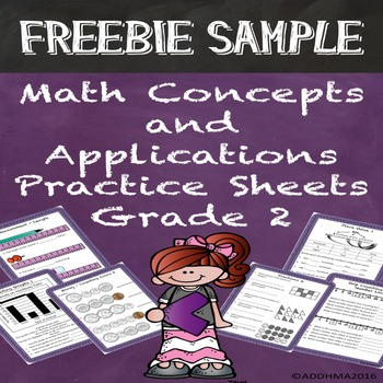 FREE SAMPLE Math Concepts & Applications Grade 2 Practice Special Education
