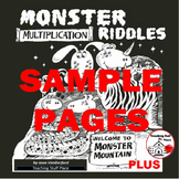 FREE...MATH...Monster Multiplication Riddles ...and MORE...FREEBIE Gr. 3-4