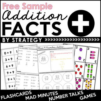 FREE SAMPLE OF Addition Facts By Strategy: Flashcards, Games, and More