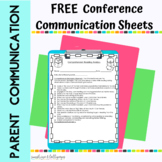 FREE Parent Teacher Conference Forms for Primary Grades