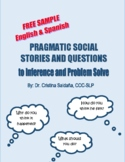 FREE SAMPLE- Pragmatic Social Stories to Inference and Problem Solve- Bilingual