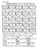 *FREE SAMPLE* Roll and Color: Heart Bingo! (Word Families)