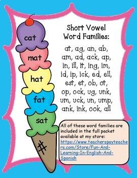 FREE SAMPLE - Short Vowel-Real or Nonsense Words-NO PREP Cut&Paste Printables