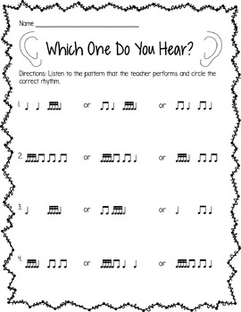 FREE SAMPLE Sixteenth Note Worksheets by Jamie Parker | TpT