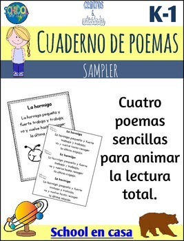 {FREE SAMPLE} Spanish Poetry Journal or Notebook {Dual Immersion}