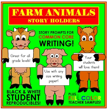 Farm Animal Story Holders