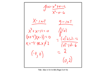 FREE SAMPLE TBS: preCalculus or Algebra 2 Chapter 3 Section 5 SmartNotes