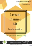 FREE SAMPLE VICTORIAN Curriculum Lesson Planner - Maths