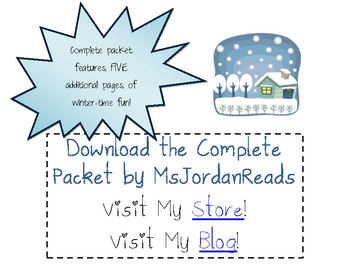 FREE SAMPLE -- Winter Word Work Activity Packet