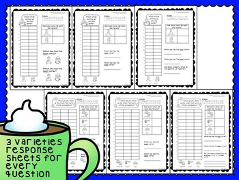 FREE SAMPLE Winter and Christmas Graph Questions with Recording Sheets