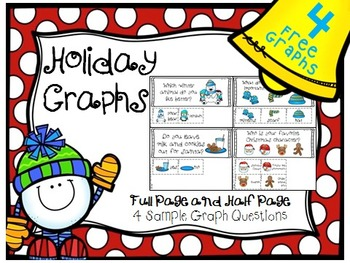 FREE SAMPLE Winter and Christmas Graph Questions with Reco