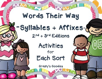 {Free Sample} Words Their Way - Syllables and Affixes: Activities for Each Sort