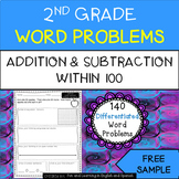 FREE SAMPLE - addition and subtraction word problems for 2nd Grade