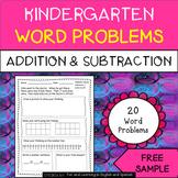 Kindergarten Word Problems w/ Digital Option (FREE) - Distance Learning