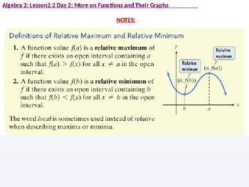 FREE SAMPLE of All Resources for Entire Algebra 2: CU 9: Function Analysis